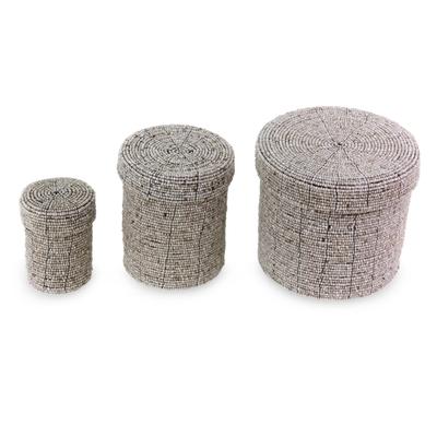 Beaded nesting boxes (Set of 3)