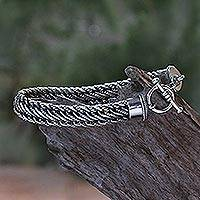 Featured review for Mens sterling silver bracelet, Balinese Centipede