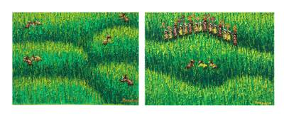 'Melasti, March to the Sea I' (diptych) - 'Melasti (Diptych)