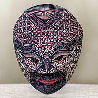 Wood batik mask, 'Prince of Kahuripan' - Wood batik mask