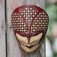 Wood batik mask, 'Gusti' - Javanese Lord Wood Batik Mask