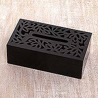 Wood tissue box cover,