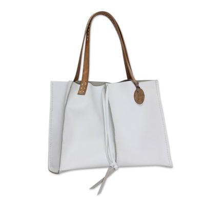 Handcrafted Leather Tote Shoulder Bag