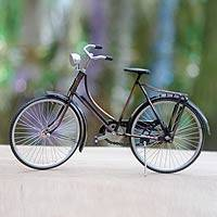 Iron sculpture, 'Colonial Buffalo Bicycle' (large) - Handmade Miniature Javanese Colonial Bicycle (Large)