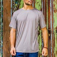 Men's cotton founder's t-shirt, 'Grey Kuta Breeze' - Grey Cotton Jersey Founder's T-shirt for Men
