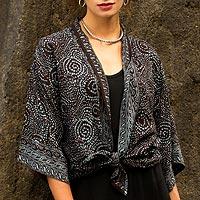 Batik jacket, 'Javanese Dove'
