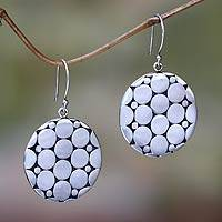 Sterling silver dangle earrings, 'Bubbles' - Fair Trade Silver Earrings