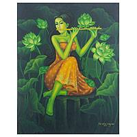 'Peace Flute's Song' - Peace Song Painting