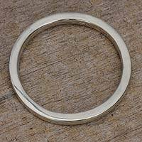 Sterling silver bangle bracelet, 'My Soul' - Modern Silver Bangle Bracelet