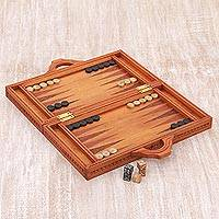 Wood backgammon set, 'Mythic Lovers'