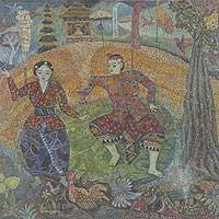 'Sacred Dance' (2009) - Balinese Ceremonial Dance Painting