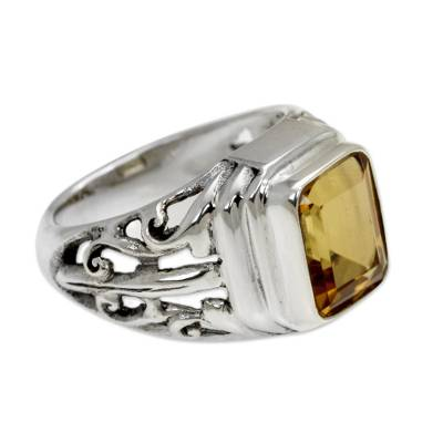 4 Carat Citrine Ring from Bali