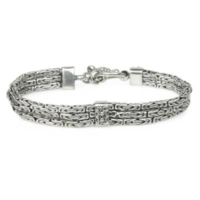 Triple Braid Silver Bracelet