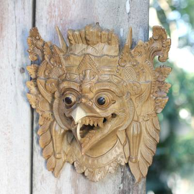 Wood mask, 'Garuda the Eagle' - Balinese Eagle Mask
