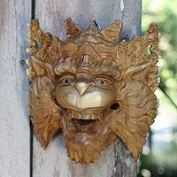 Wood mask, 'Monkey King Subali' - Balinese Mythic Monkey Mask