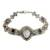 Multi-gemstone link bracelet, 'Noble Lady' - Multi-gemstone and Carved Bone Link Bracelet from Bali (image 2a) thumbail