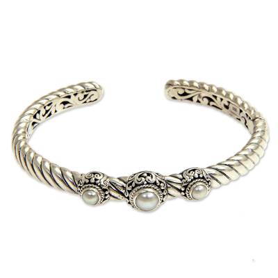Cultured Pearl Cuff Bracelet from Bali