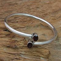 Garnet bangle bracelet,