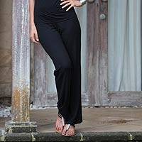 Modal pants, Bamboo in Black