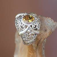 Citrine cocktail ring, Heavenly Garden