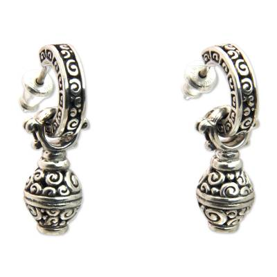 Artisan Crafted Sterling Silver Dangle Earrings