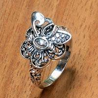 Sterling silver ring, 'Baby Butterfly' - Fair Trade Sterling Silver Women's Butterfly Ring