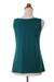 Modal top, 'Paradise Green' - Women's Modal Sleeveless Top with Ruffles (image 2e) thumbail