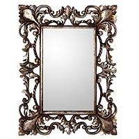 Gilt on wood mirror, 'Antique Garland I' - Vintage Style Mirror and Wood Frame with Silver Gilt
