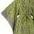 Rayon robe, 'Tropical Fern Forest' - Balinese Green and Purple Fern Leaf Rayon Kimono Style Robe (image 2g) thumbail