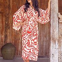 Rayon robe, 'Denpasar Orange'