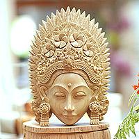 Wood mask, 'Janger Lady'