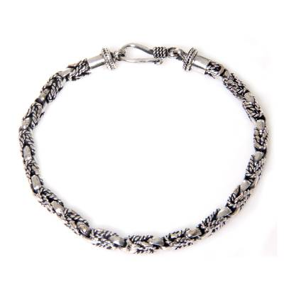 Balinese Hand Crafted Sterling Silver Braided Bracelet