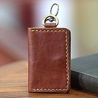 Leather key ring wallet Sumatra Secrets Indonesia