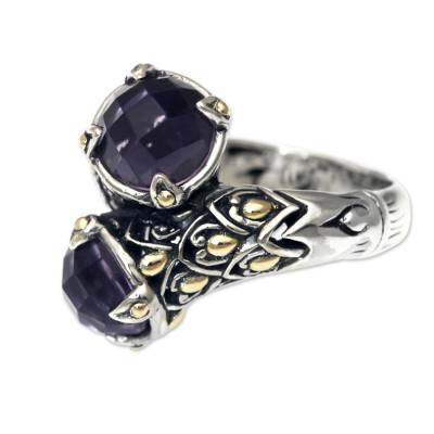 5-carat Amethyst Sterling Silver Ring from Bali
