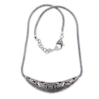 Reversible Sterling Silver Handcrafted Heart Theme Necklace