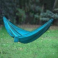 Parachute hammock Uluwatu Teal single Indonesia