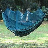 Parachute hammock with mosquito net Green Paradise double Indonesia