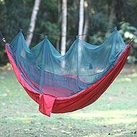 Parachute hammock with mosquito net Wine Paradise double Indonesia