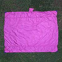 Parachute beach blanket, 'Sanur Fuchsia' - Parachute Silk Fuchsia Beach Blanket Crafted in Java