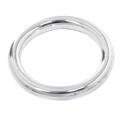Handcrafted Sterling Silver Minimalist Bangle Bracelet