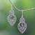 Amethyst dangle earrings, 'Majapahit Glory' - Amethyst and Sterling Silver Dangle Earrings from Bali thumbail