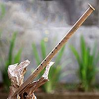 Bamboo flute, 'Garuda Defeats the Dragon' - Traditional Handcrafted Signed Balinese Bamboo Flute