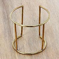 Brass cuff bracelet,