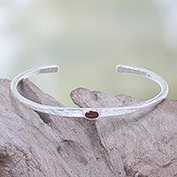 Carnelian cuff bracelet,