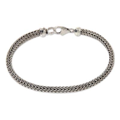 Sterling Silver Chain Bracelet Fair Trade Bali Jewelry