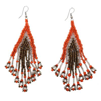 Beaded waterfall earrings, Samba Queen