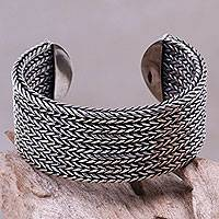 Sterling Silver Cuff Bracelet Horseshoe Braids (indonesia)