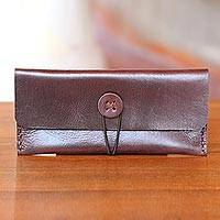 Leather wallet Dark Batavia Brown Indonesia