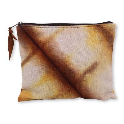 Artisan Crafted Canvas Tie Dye Cotton Clutch Bag