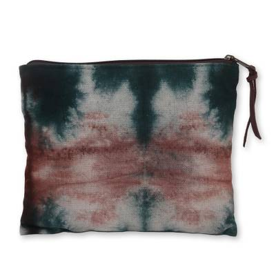 Tie Dye Cotton Canvas Clutch Bag Handcrafted in Java
